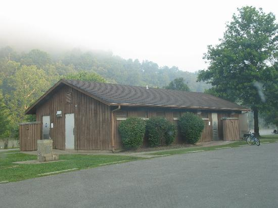 Beech Fork State Park: The bathhouse and laundry facility