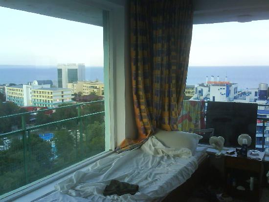 Hotel Varshava : A room with a view (sorry about the mess!)