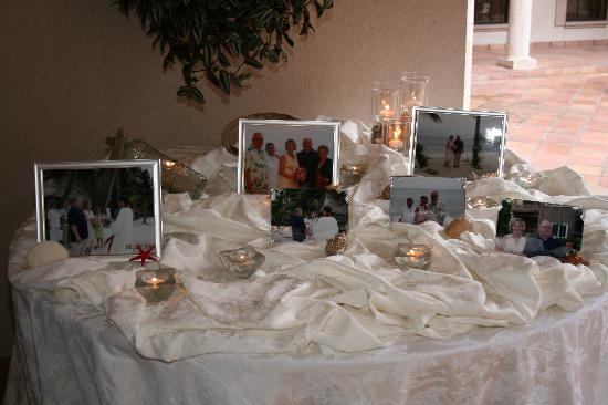 Guest book table personalized with our wedding photos. - Northwest ...