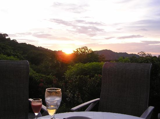 Rancho Armadillo Estate: Sunset and Howler Drink at Dinner at Rancho