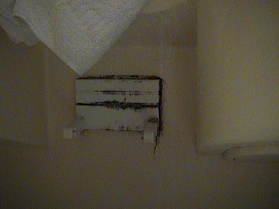 King's Cross Hotel: moldy toilet roll holder