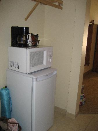 Henlopen Hotel: Roomy fridge, coffee maker, microwave included