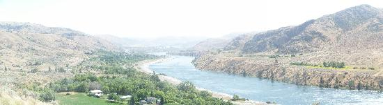 Coulee Dam, วอชิงตัน: Panoramic View of Columbia River