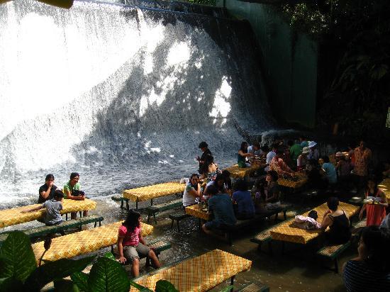 Enjoy Filipino Food Beside The Man Made Water Falls