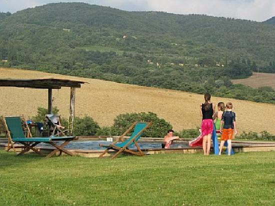 La Foce: view from pool