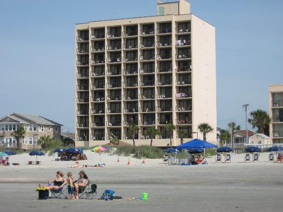 Hotel From The Beach Picture Of Best Western Ocean Sands Beach