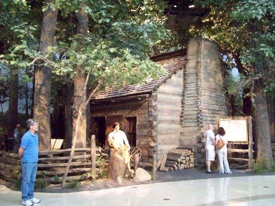 abe s log cabin picture of abraham lincoln presidential library