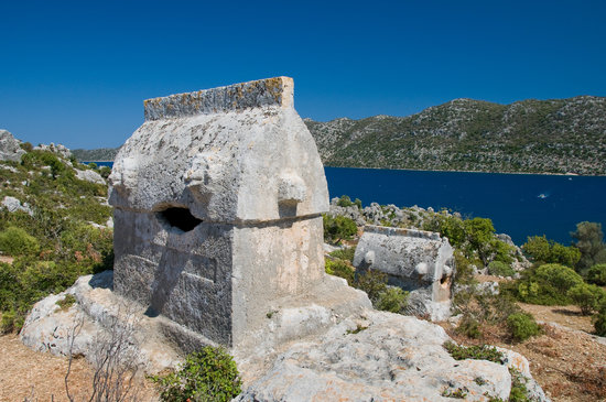 Kemer, Tyrkiet: Lycian tombs as Simena