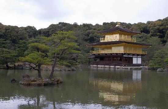 Rokuon-ji Temple: Golden Pavilion across lake