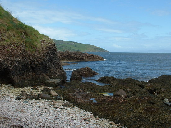 County Antrim, UK: Cushendun beach,  Co Antrim; N.Ireland