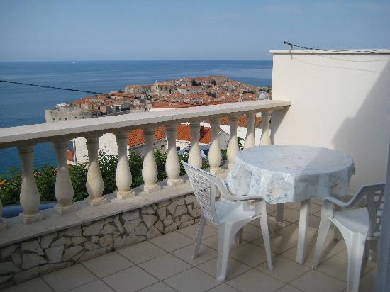 Apartments Nadramija : The balcony of apartment 1