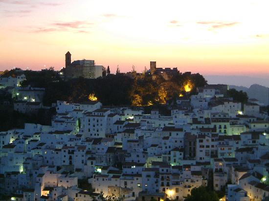 Casares, Spanyol: Sunset over Caseres