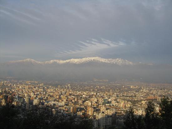Chile: Andes view from Cerro San Cristobal