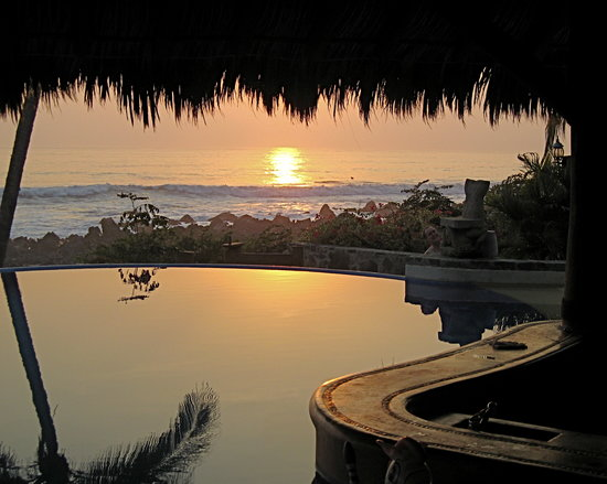 Sunset at Casa Manzanillo in Troncones Bay