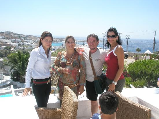 Hotel Palladium: Guest Relations managers Maria on left
