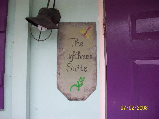 Sunshine Island Inn: pretty litttle sign