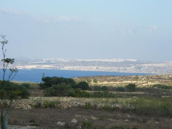 Sannat, Malta: close-up photo of view to Malta from our verandah