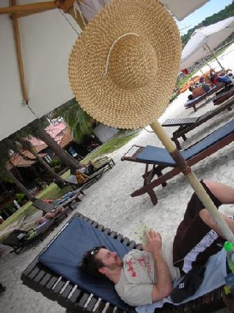 Coral Redang Island Resort: many cushioned sunchairs