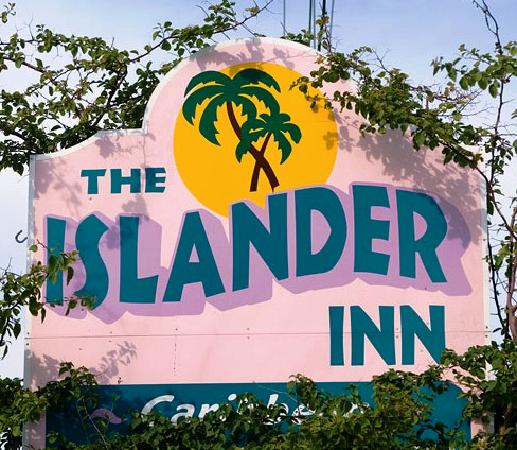The Islander Inn: Sign out Front