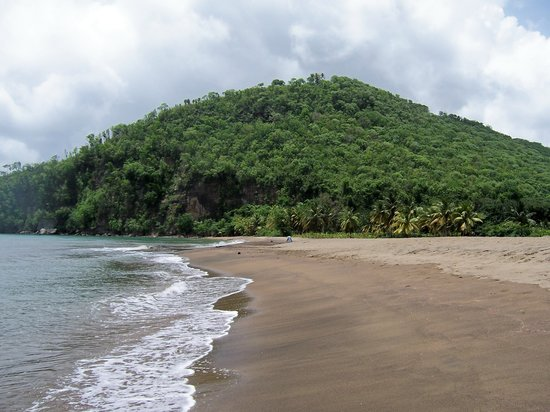 Anse La Raye, St. Lucia: Roseau Beach near Marigot Bay, St Lucia