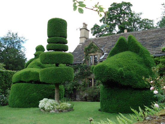 Haddon Hall topiaries