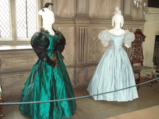 Haddon Hall: Jane Eyre costumes on display while we visited