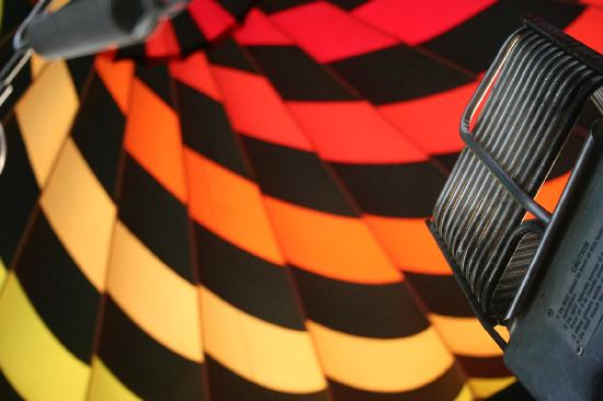 Midnight Sun Balloon Tours : Inside of ballon being inflated
