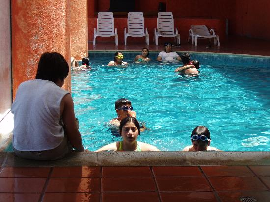 San Felipe Marina Resort & Spa: When the sun gets hot, the indoor pool saves the day