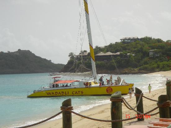 Galley Bay Resort: One of the many excursions picking you up on beach