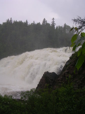Wawa, Canada: Scenic High Falls, Ontario. (July 2008)