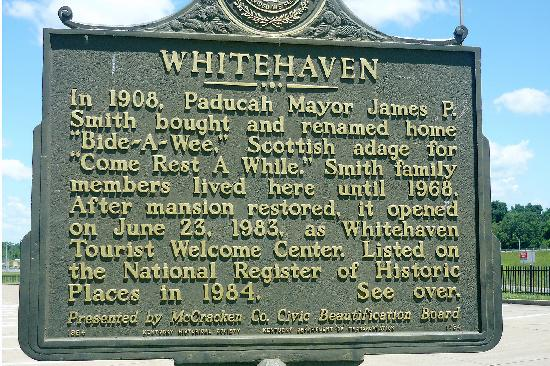 Whitehaven Welcome Center: Front side of Whitehaven Sign