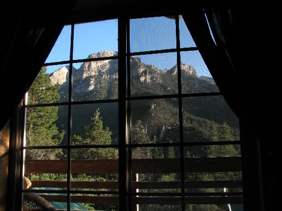 Mt. Charleston Lodge: View from the bed we slept in