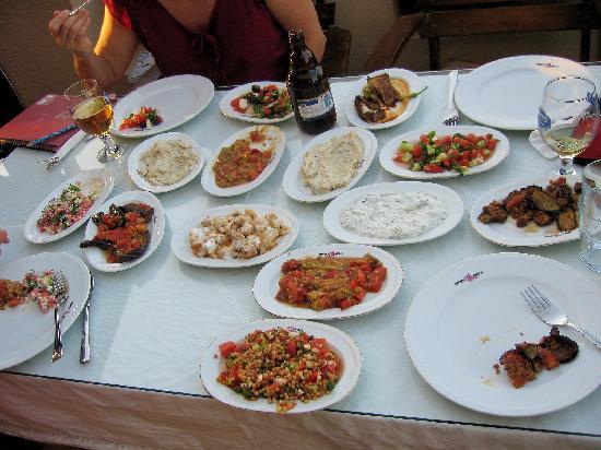 Hotel Bella: A sample mezza course