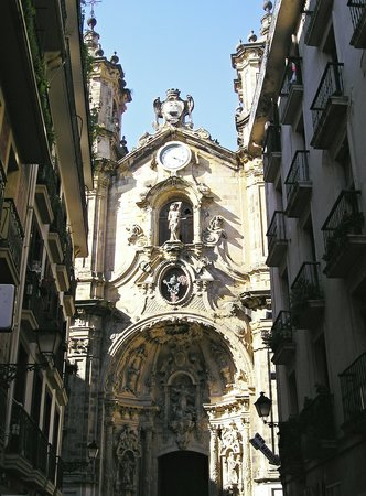 Saint-Sébastien, Espagne : a church in San Sebastian