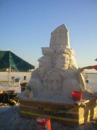Gulf Coast Barat Daya, FL: Sand Sculptures Fort Myers Beach