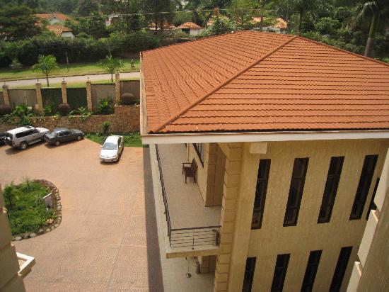 Protea Hotel Kampala: car park outlook from room