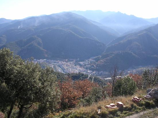 Amelie-les-Bains-Palalda, France: A view of Amelie from  the hills above