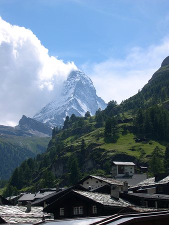 Zermatt, Schweiz: View from the hotel window