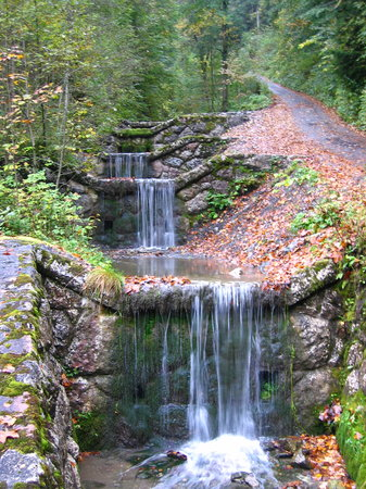 Upper Bavaria, Germany: Terrace Falls