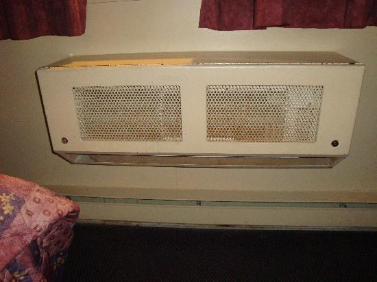 Canad Inns Polo Park: Eww. A/C and broken paneling under it