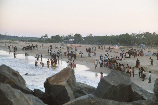Pondichéry, Inde : Day on the beach