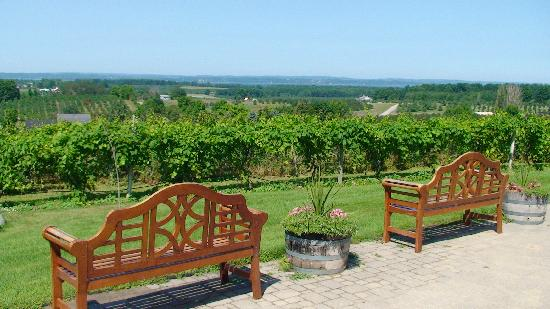 Chateau Chantal Winery and Inn: View of West Bay from B & B