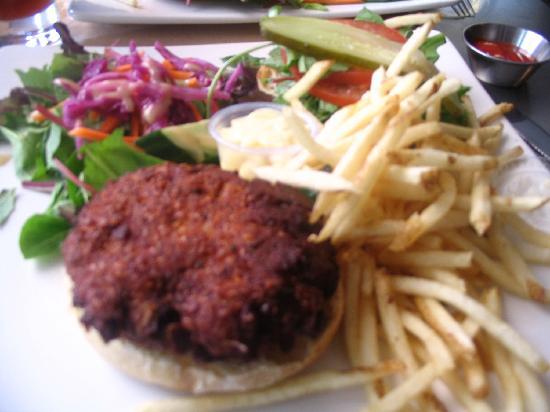 Cafe Le Hobbit : Veggie Burger at The Hobbit