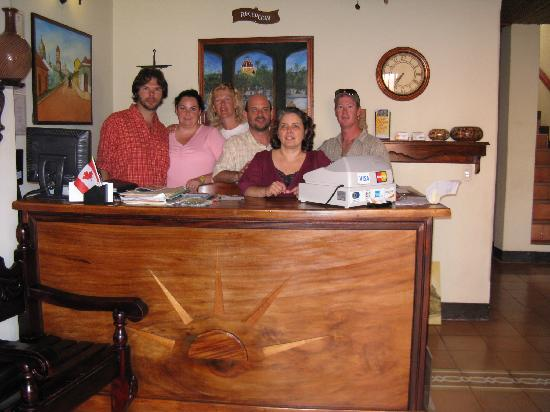 Hotel Terrasol: Our Canadian gang and the owners