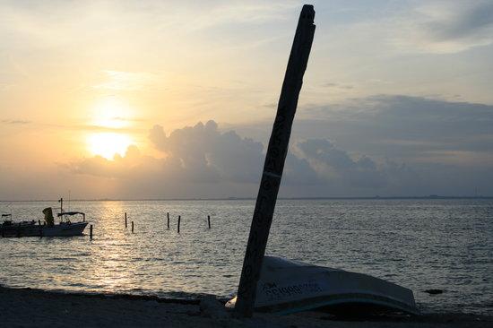 Mexico: Lever de soleil au nord de Cancun