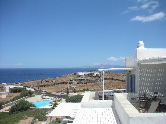 Lighthouse Hotel: vue terrasse appartement