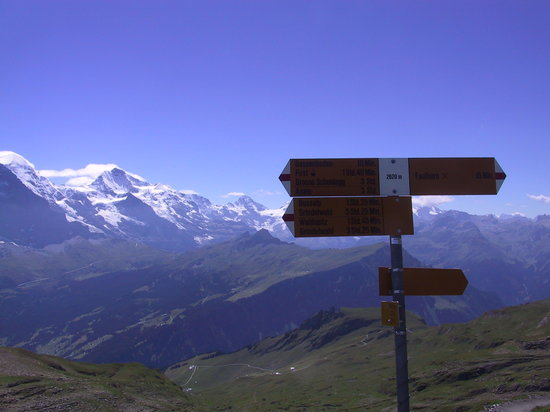 Schweiz: The walk from Schynige Platte to First