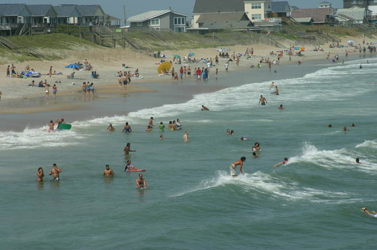 Topsail Beach, Carolina del Norte: A busy Fourth of July