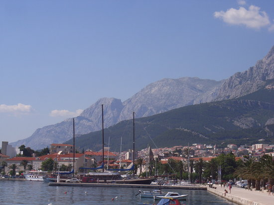 Makarska Town & Backdrop