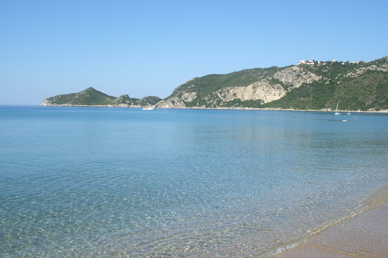 The lovely clear waters of Agios Georgios
